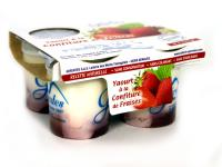 Yaourts confiture fraise x4