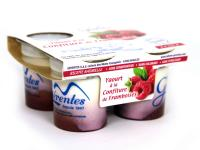 Yaourts confiture framboise x4